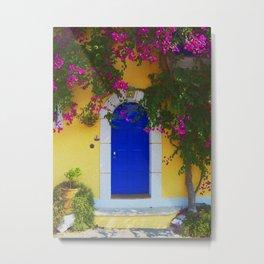 Greek Door Nº1 Metal Print