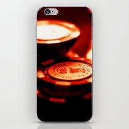 Casino Chips Stacks-Red iPhone Skin