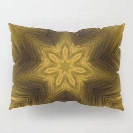 Golden Amber Metalic Abstract Star #Kaleidoscope Pillow Sham