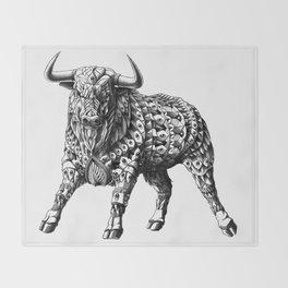 Raging Bull Throw Blanket