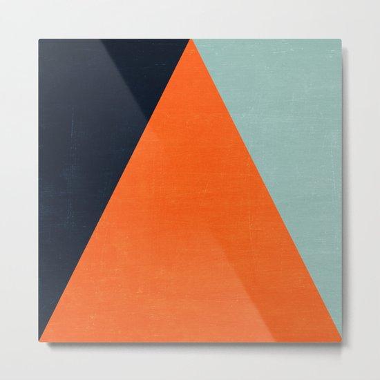 mod triangles - autumn Metal Print