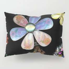 Happy Day in the Garden, Jewelry Scanography Pillow Sham