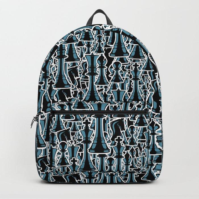 Chess Pattern II BLACK Backpack