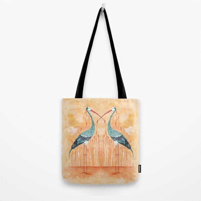An Exotic Stork Tote Bag