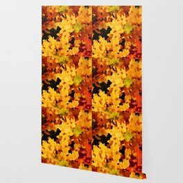 Yellow and Red Sunflowers Wallpaper