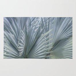 Palm Leaves: Silver Hues Rug