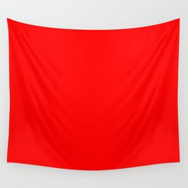 ff0000 Bright Red Wall Tapestry