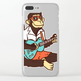 Guitar monkey Clear iPhone Case