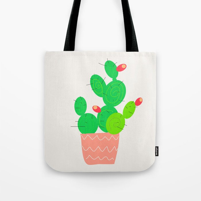 Potted Cactus Tote Bag