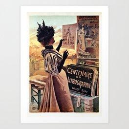 1895 Paris Centennial of Lithography Art Print
