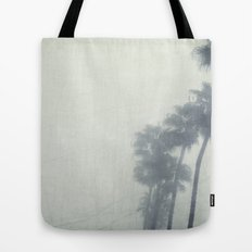 Palm Trees In The Fog  Tote Bag