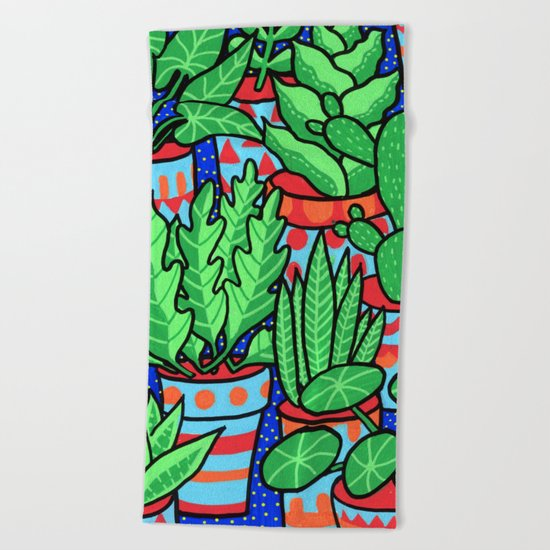 Plants more plants Beach Towel