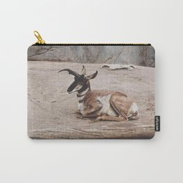 Laying Pronghorn Carry-All Pouch