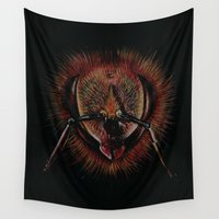 bee Wall Tapestries featuring bee  by hueroth