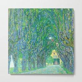 Gustav Klimt - Allee im Park von Schloss Kammer (new editing) Metal Print
