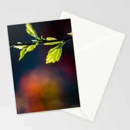 Leaves in a colorful world Stationery Cards