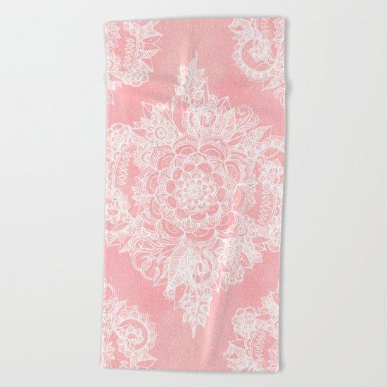 Marshmallow Lace Beach Towel