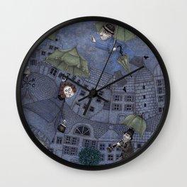 Monsieur Millet's Umbrellas Wall Clock