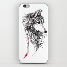 Feather Wolf iPhone Skin