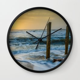 Sunrise Beach Art Landscape Photography - Kissed by the Sea Wall Clock