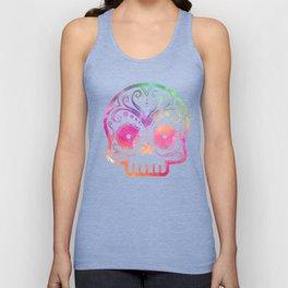 """Custom Design Modern Sugar Skull (""""Calavera"""") Unisex Tank Top"""