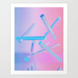 Holographic Cylinders Art Print
