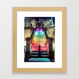 Spectrum Stairs Framed Art Print