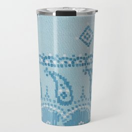 Floral Paisley Border Travel Mug