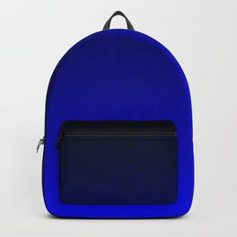 Midnight Black to blue ombre flame gradient Backpack