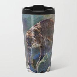 The Mountain King - Cougar Wildlife Art Travel Mug