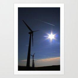 Windfarm and Blue Sky Art Print