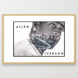 Allen iverson Framed Art Print