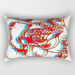 Glitch gardenia - primaries Rectangular Pillow