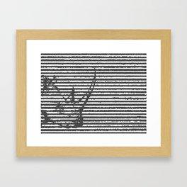 terribilis lineas. Framed Art Print