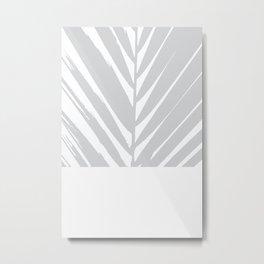 Grey #Palm Metal Print