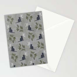 peace and joy gray Stationery Cards