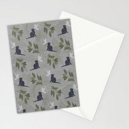 peace and joy gray Stationery Cards