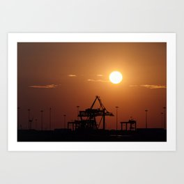 Dublin Port Art Print