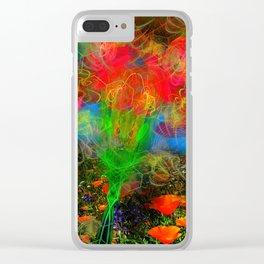 Wild Poppy Hallucintion Clear iPhone Case