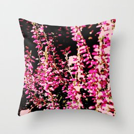 Heide Erika Calluna Vulgaris Throw Pillow