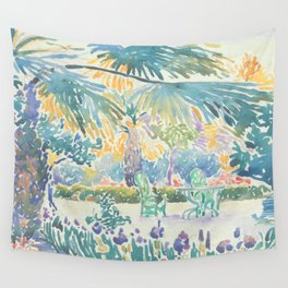 Garden of the Painter at Saint Clair by Henri-Edmond Cross 1908, French Wall Tapestry