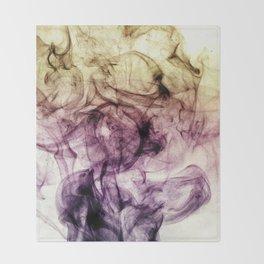 Beautiful Purple Brown Smoky Dust Throw Blanket