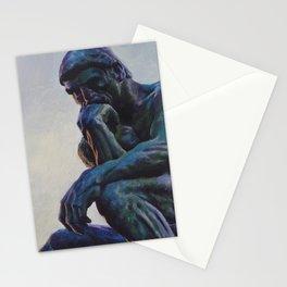 El pensador de Rodin Stationery Cards