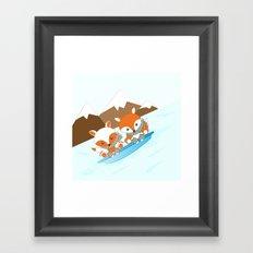 Skiing Framed Art Print