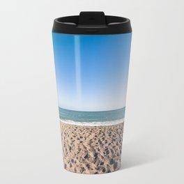 A woman and her cloud (Irish beach) Travel Mug