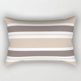 Caffeinated Tones Horizontal Striped Rectangular Pillow