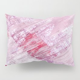 Magnetic [10]: a minimal abstract piece in gold, pink, red, white and purple Pillow Sham