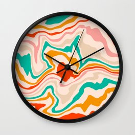 Warm abstract marble Wall Clock