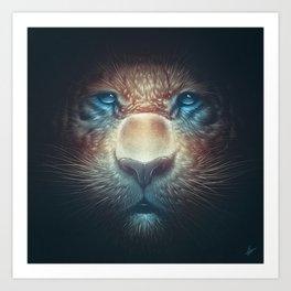 Red Tiger Art Print