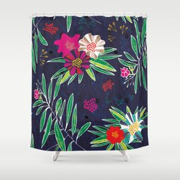 Neo Rainforest-Twillight Shower Curtain